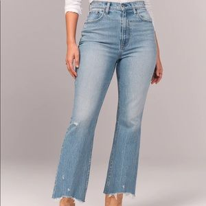 NEW Abercrombie & Fitch Curve Love The Kick Flare Ultra High Rise 28 6R